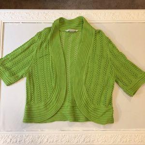 Peter Nygard sweater shrug bolero jacket